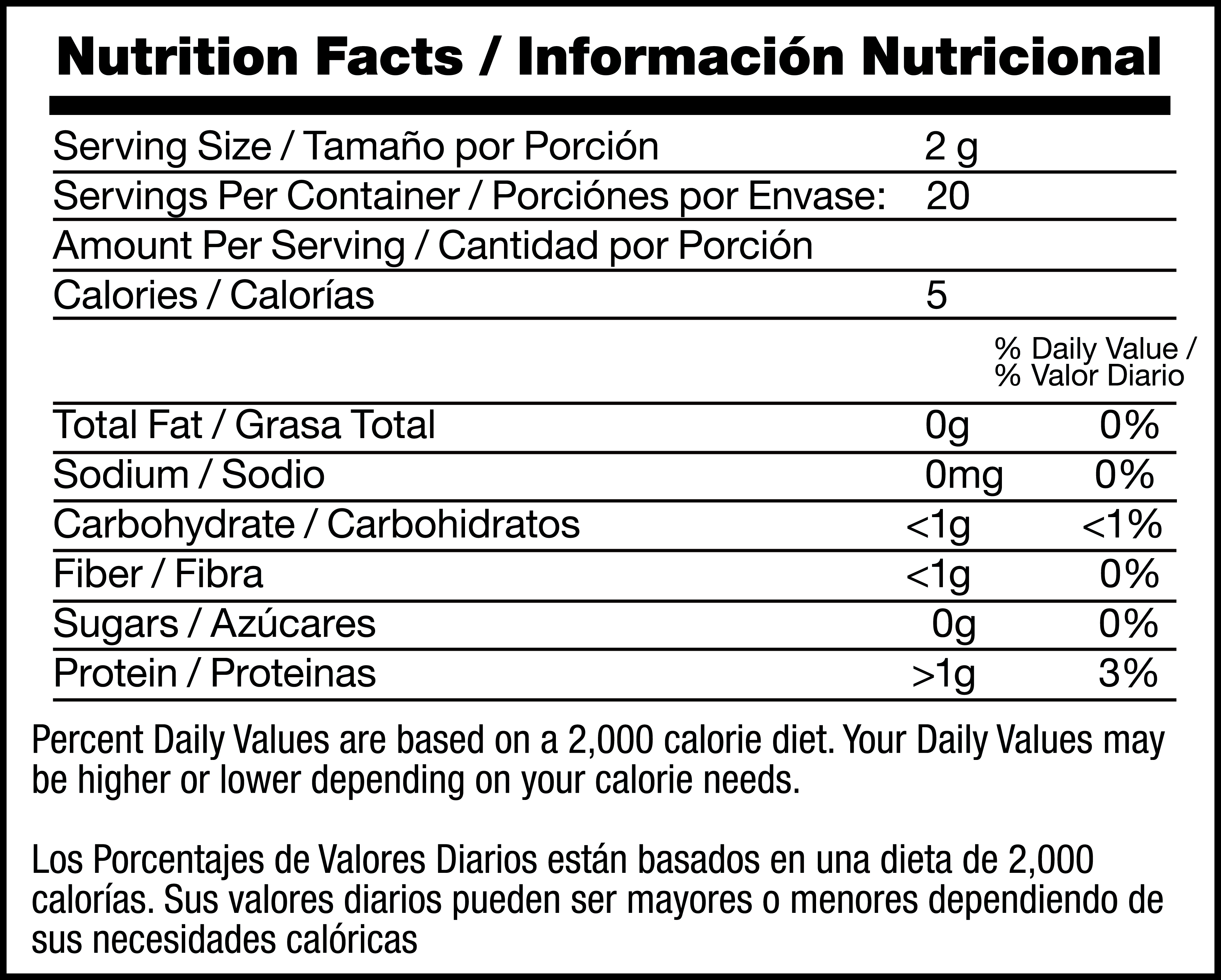 Black Tea nutrition facts