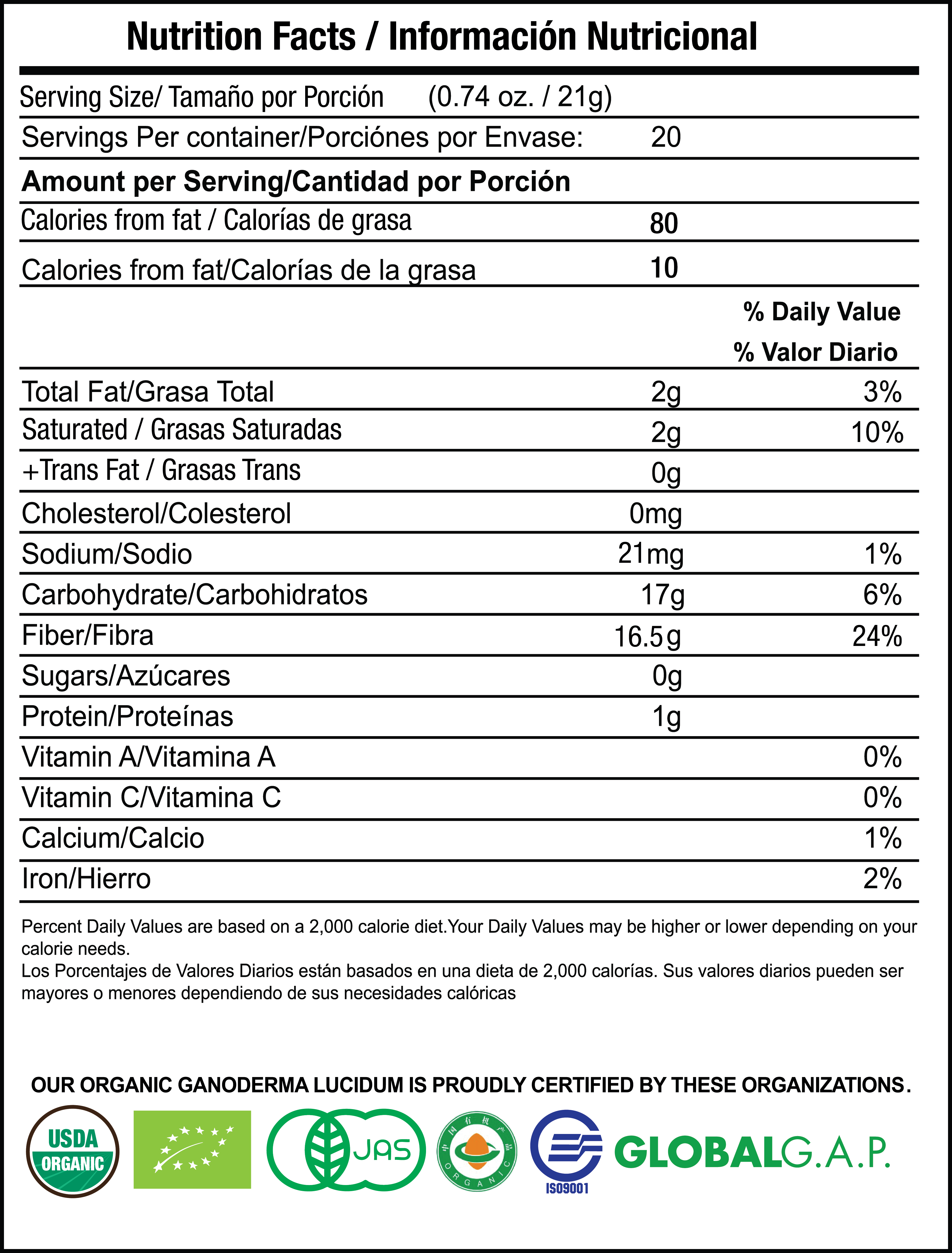 Sculpt Latte nutrition facts